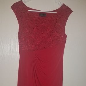 Red Connected Apparel Dress